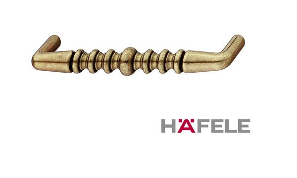 Мебельная ручка, цинковое литьё, цвет коричневая бронза, 104 х 24 мм