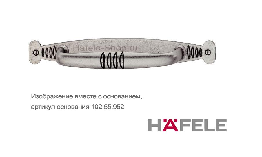 Мебельная ручка, цинковое литьё, цвет оцинкованный антик,  106 х 23 мм
