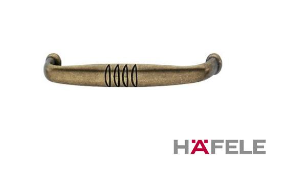 Мебельная ручка, цинковое литьё, цвет коричневая бронза,  106 х 23 мм