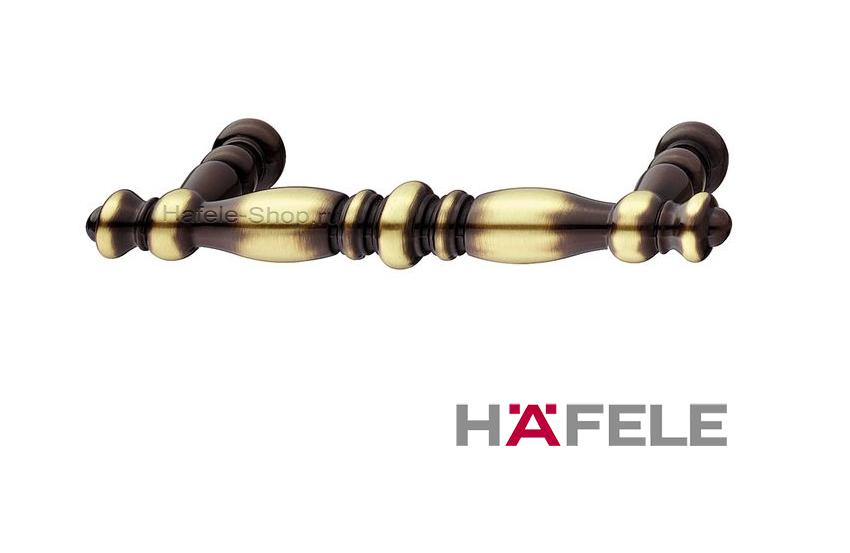Мебельная ручка, цинковое литьё, цвет коричневая бронза, 119 х 33 мм