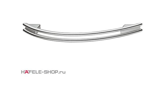 Мебельная ручка цвет хром полированный 124x28 мм