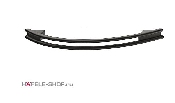 Мебельная ручка цвет черный матовый 169x27 мм