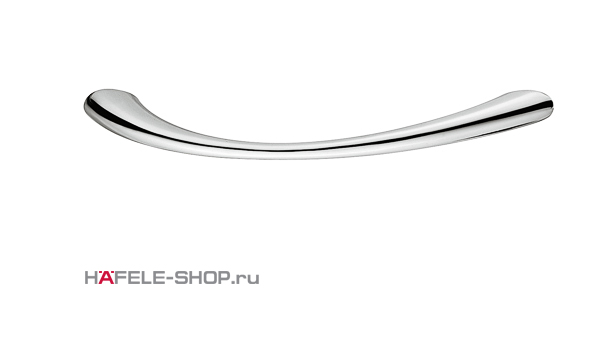 Мебельная ручка цвет хром полированный 113x24 мм