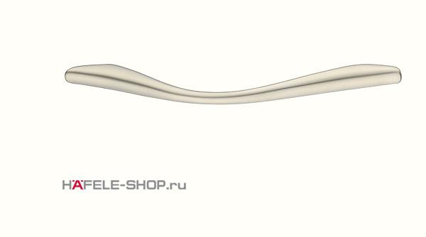 Мебельная ручка цвет никель матовый 125x24 мм