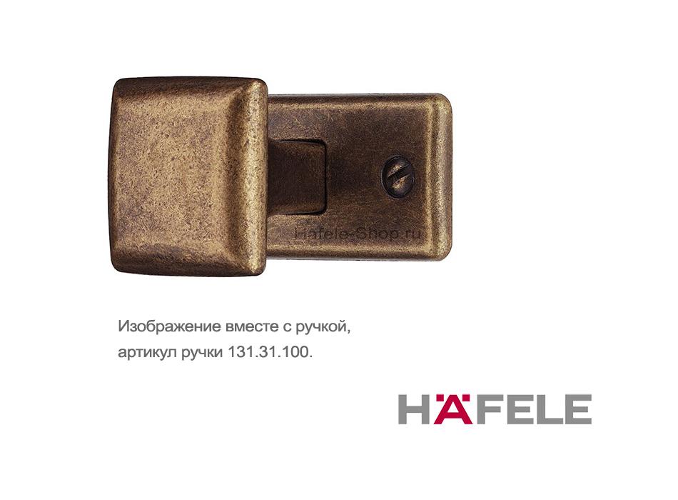 Основание мебельной ручки, цвет коричневая бронза,  45 х 21 мм