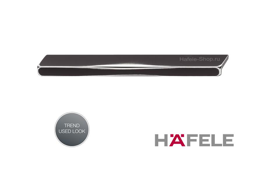 Мебельная ручка с потёртыми углами, антрацит, длина 240 мм.
