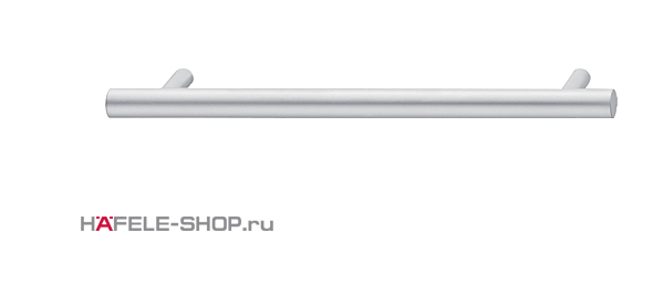 Мебельная ручка рейлинг цвет хром матовый  328x35 мм