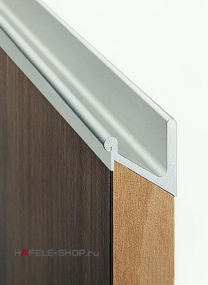 Мебельная ручка профиль, материал алюминий, цвет серебристый 2500 мм