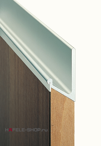 Ручка профиль мебельная, материал алюминий, цвет серебристый, 2500 мм