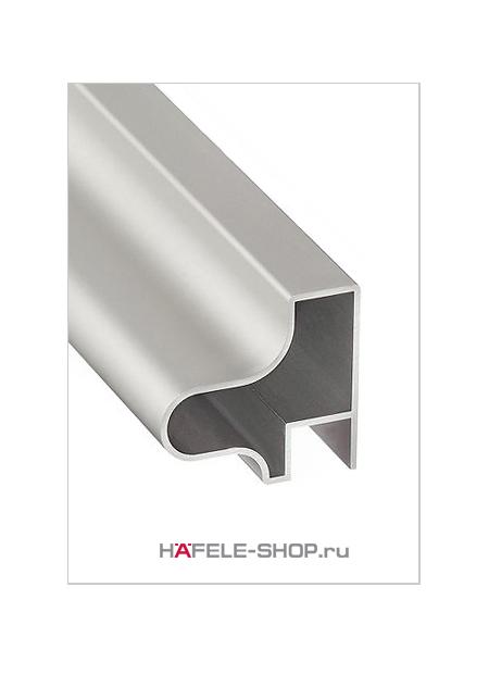 Мебельная ручка профиль, алюминий, цвет серебристый, 2500 мм