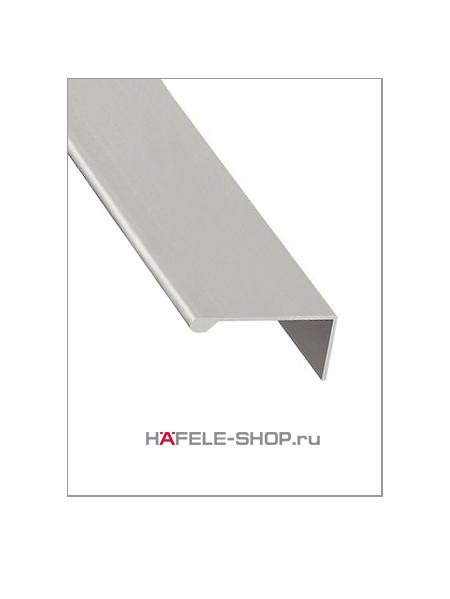 Мебельная ручка профиль, материал алюминий, серебристая, 2500 мм