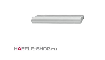 Мебельная ручка планка алюминий матовая  84x24 мм