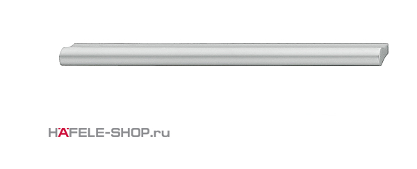 Мебельная ручка планка алюминий матовая  212x24 мм