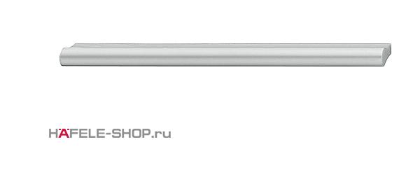 Мебельная ручка планка алюминий матовая  372х24 мм