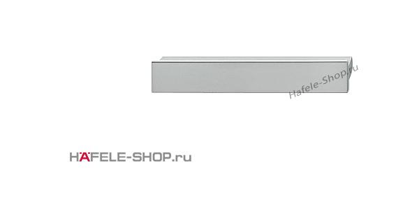 Мебельная ручка планка алюминий матовая   80x14 мм