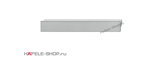 Мебельная ручка планка алюминий матовая  120x14 мм