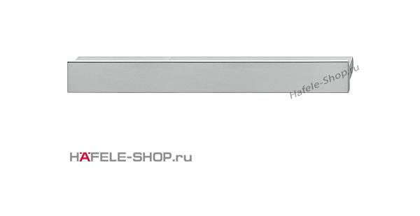 Мебельная ручка планка алюминий матовая  220x14 мм