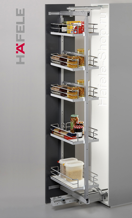 Выдвижная поворотная колонна на кухне, BRILLIANT, ширина фасада 300 мм, высота 1600 - 2000 мм