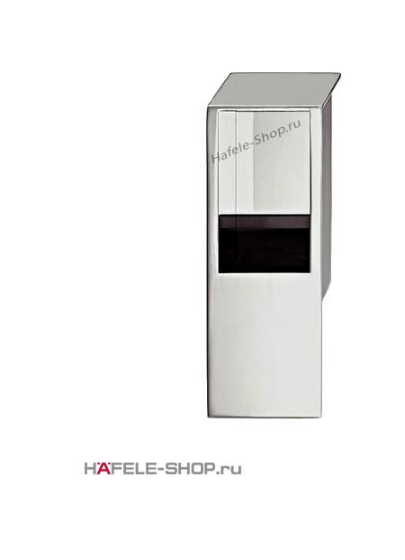 Мебельная ручка врезная цвет хром матовый  80 x 29 мм