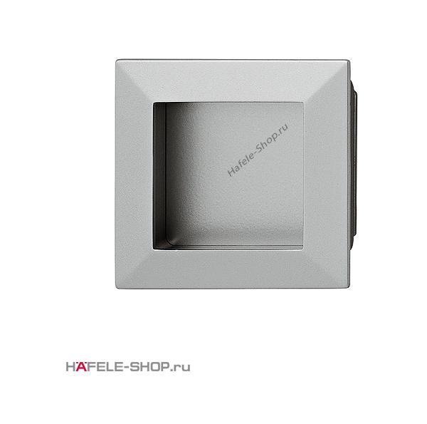 Мебельная ручка врезная цвет алюминий 69 x 69 мм