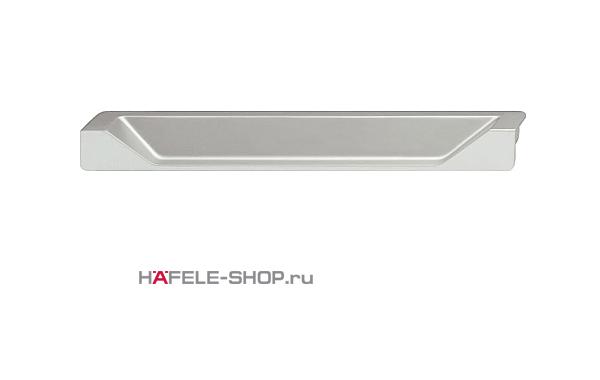 Мебельная ручка врезная цвет алюминий  200 x 19 мм