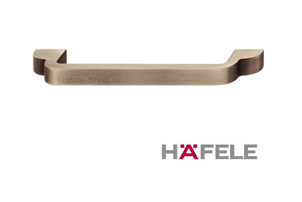 Ручка мебельная, цвет античная латунь, длина 148 мм, между винтами 128 мм