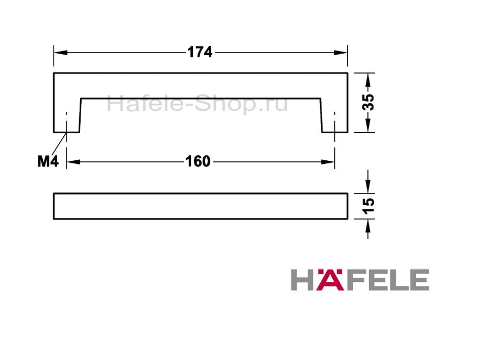 Мебельная ручка винтажная, цинковое литьё, покрытие под старое железо, 174 х 35 мм