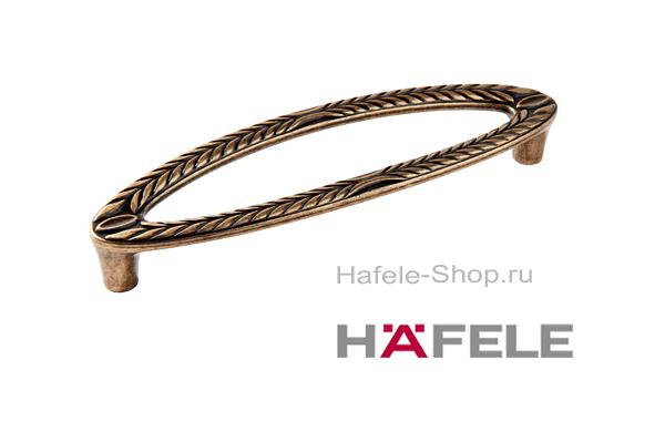 Ручка мебельная, цвет античная бронза, длина 142 мм, между винтами 128 мм