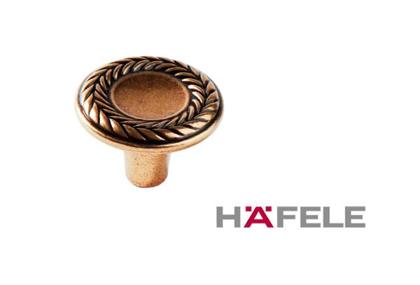 Мебельная ручка кнопка, цвет античное золото, диаметр 31 мм