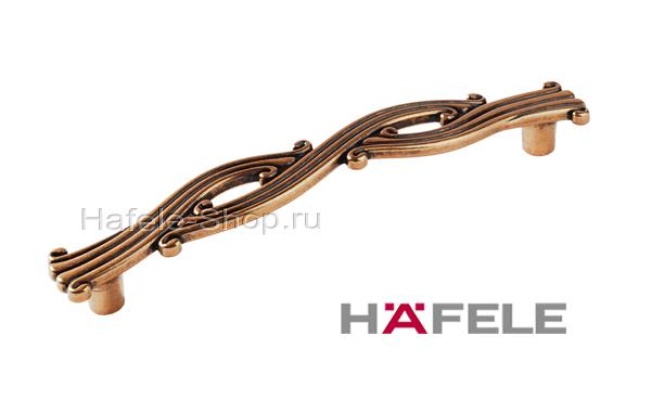 Ручка мебельная, цвет античное золото, длина 118 мм, между винтами 96 мм