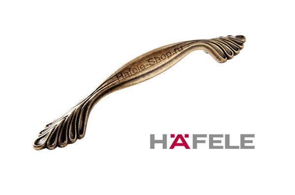 Ручка мебельная, цвет античная бронза, длина 174 мм, между винтами 128 мм
