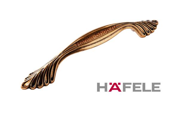 Ручка мебельная, цвет античное золото, длина 142 мм, между винтами 96 мм