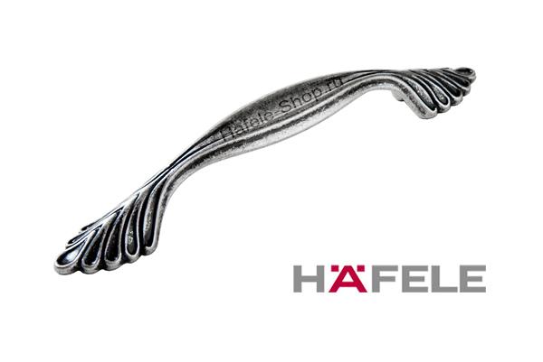 Ручка мебельная, цвет античное серебро, длина 142 мм, между винтами 96 мм