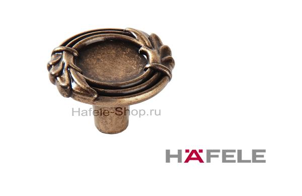 Мебельная ручка кнопка, античная бронза, диаметр 33 мм