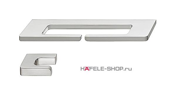 Мебельная ручка цвет нержавеющая сталь  164x39 мм