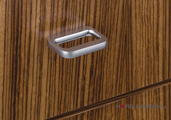 Мебельная ручка цвет хром полированный   44x32 мм