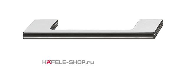 Мебельная ручка  цвет комбинированный черный и алюминий 190x40 мм