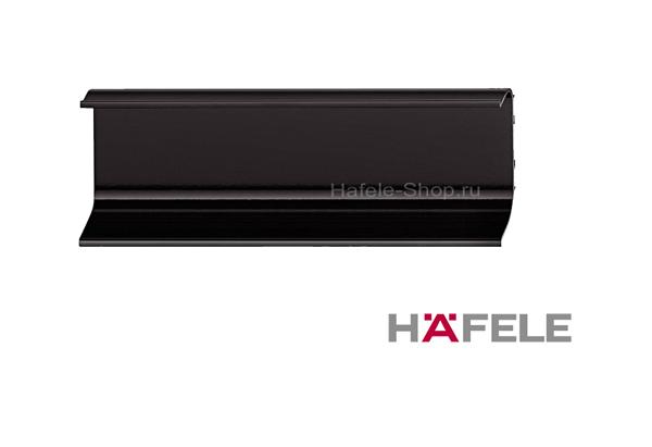 Ручка профиль мебельная, алюминий, цвет черный, 2500 мм