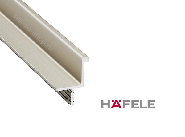 Мебельная ручка профиль, алюминий анодированный (E6), цвет нержавеющей стали, длина 2500 мм