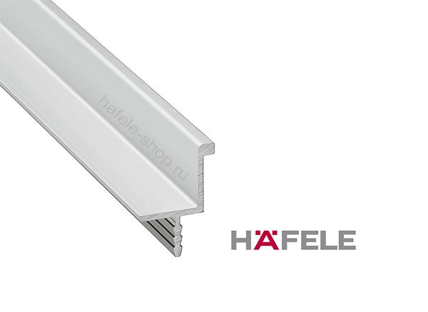 Мебельная ручка профиль, алюминий анодированный, цвет серебристый (E6/V1), длина 2500 мм
