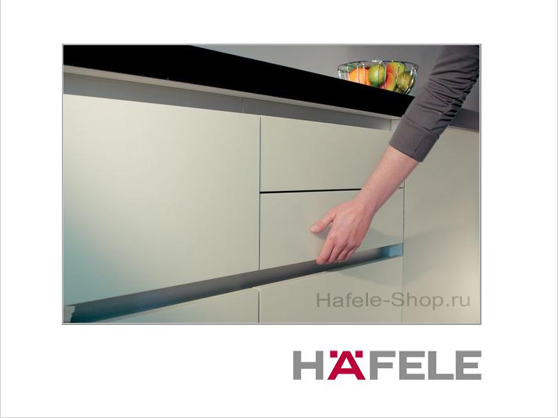 Ручка профиль мебельная, алюминий, цвет серебристый, 2500 мм
