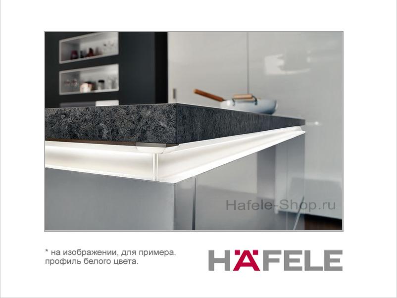 Мебельная ручка профиль, материал алюминий, цвет черный, 2500 мм