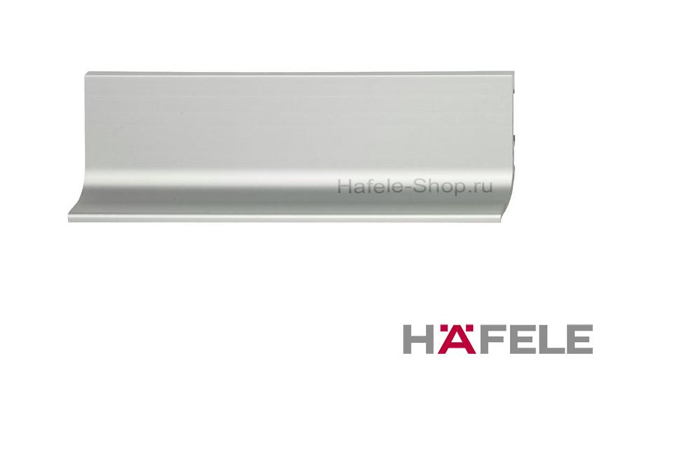 Мебельная ручка профиль, из алюминия, цвет серебристый, 2500 мм
