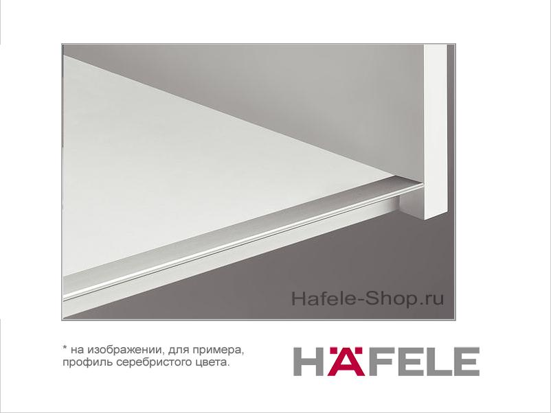 Мебельный профиль нижний, материал алюминий, цвет черный, 2500 мм