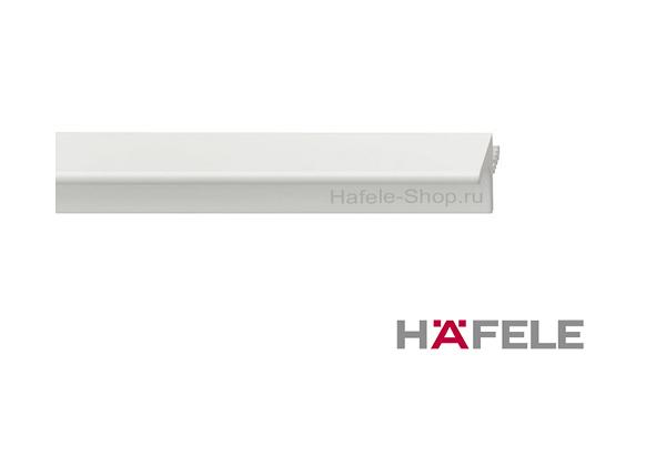 Мебельный профиль нижний, материал алюминий, цвет белый, 2500 мм
