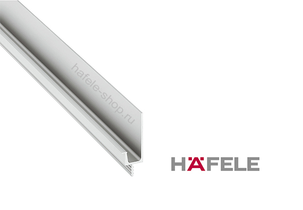 Ручка профиль, алюминий анодированный, цвет серебристый (E6/V1), длина 2500 мм