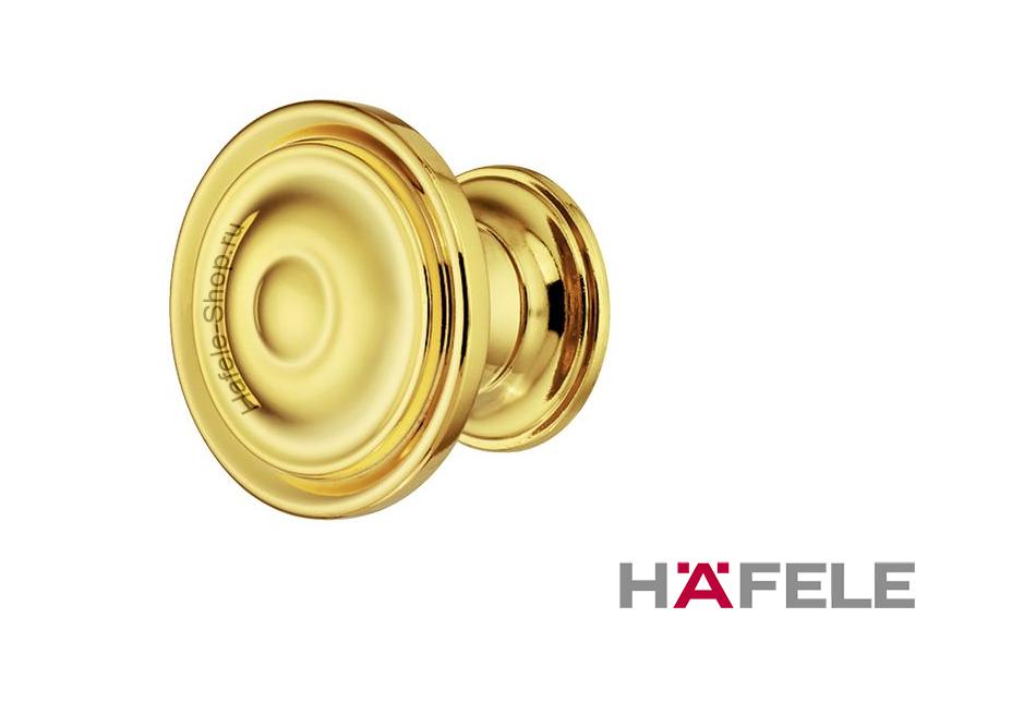 Мебельная ручка кнопка, цинковое литьё, цвет золото полированное,  30 х 23 мм