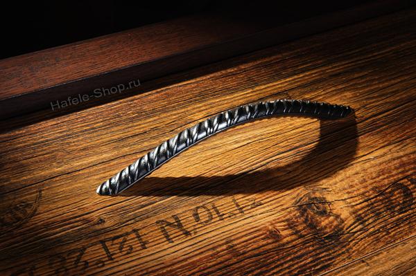 Ручка винтажная мебельная, сталь, 205,5 х 35 мм