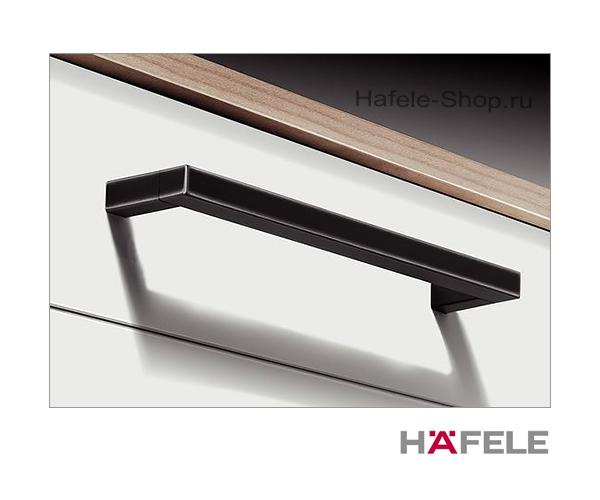 Ручка мебельная винтажная, сталь, черная, потертая, 172 х 35 мм