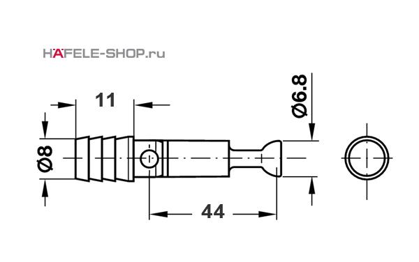 Болт мебельный MINIFIX для  соединения на ус 8/B44